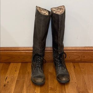 Lucky Brand Distressed Gray Boots